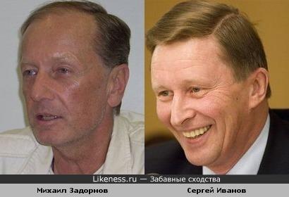 Комик Михаил Задорнов похож на министра РФ Сергея Иванова