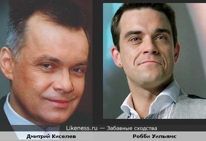 Телеведущий Дмитрий Киселев временами напоминает Робби Уильямса