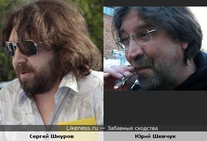 Сергей Шнуров смахивает на Шевчука