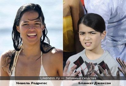 младший сын Майкла Джексона похож на Мишель Родригез