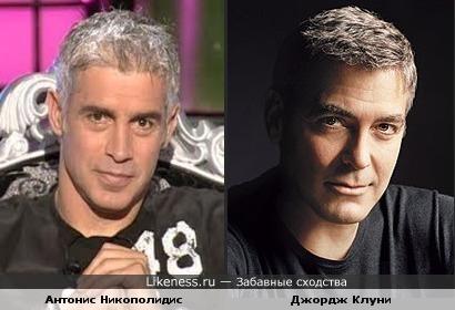 Греческий вратарь Антонис Никополидис похож на Джорджа Клуни