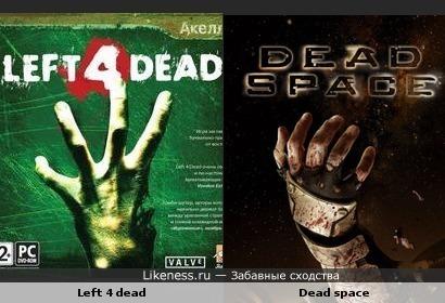 Постеры игр Left 4 Dead и Dead Space похожи
