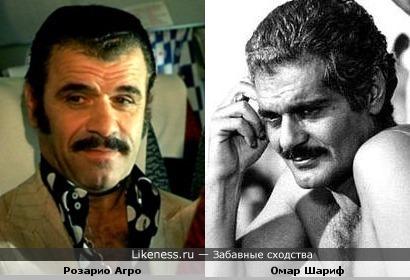 Итальянский мафиози Розарио Агро похож на Омара Шарифа