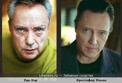 Удо Кир и Кристофен Уокен