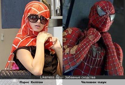 Пэрис Хилтон напоминает Человека-паука