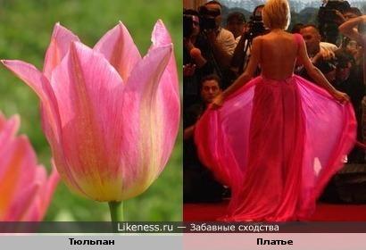 Платье как цветок
