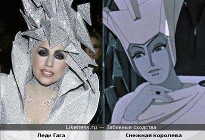 Леди Гага в образе снежной королевы