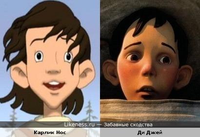 """Якоб из м/ф """"Карлик нос"""" и Ди Джей из м/ф """"Дом монстр"""""""
