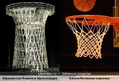 Шуховская башня в Краснодаре напоминает баскетбольную корзину