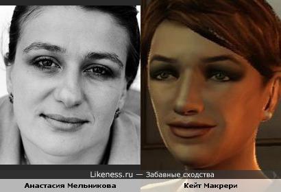 Персонаж игры GTA 4 напоминает Анастасию Мельникову