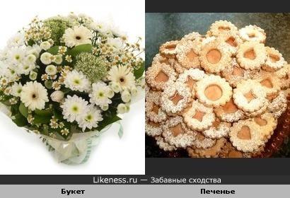 Цветочное печенье