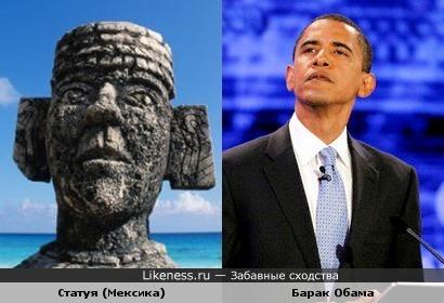 Статуя напоминает Барака Обаму