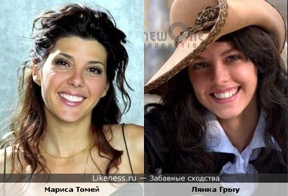 Мариса Томей и Лянка Грыу