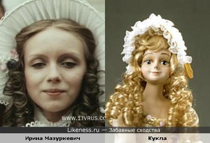 Кукла авторской работы напоминает Ирину Мазуркевич
