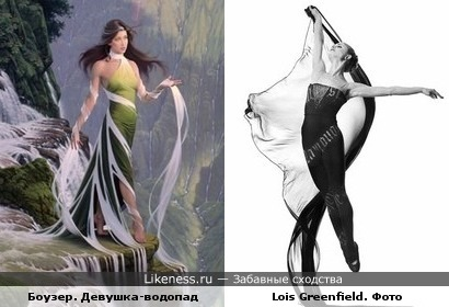 Наряд льется водопадом. Картина Джонатана Боузера и фото танца Lois Greenfield