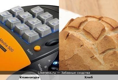 Кнопки на хлебе
