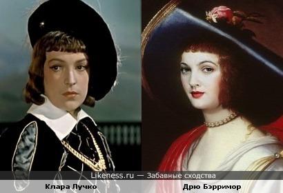"""Клара Лучко (""""Двенадцатая ночь"""") и Дрю Бэрримор (""""Worth1000"""")"""