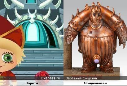"""Ворота (заставка """"Домовята"""") напоминают Мондошавана (х/ф """"Пятый элемент"""")"""