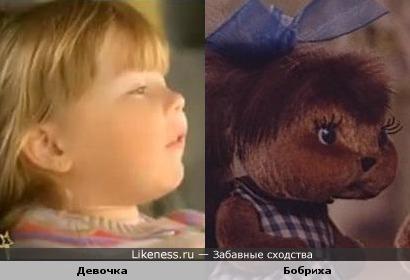 Девочка из рекламы похожа на бобренка