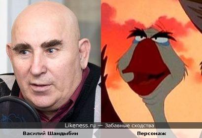 """Василий Шандыбин и персонаж из мультфильма """"Балто"""""""