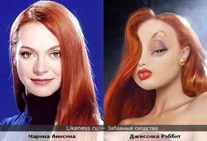 Марина Анисина и Джессика Рэббит