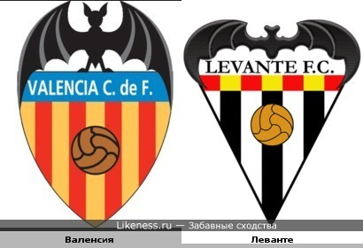 Футбольные клубы: Валенсия и Леванте