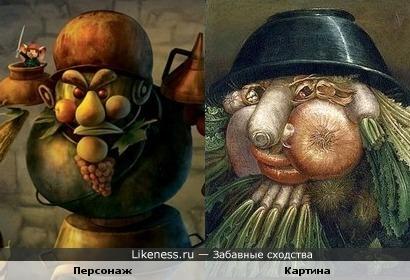 """Персонаж из мультфильма """"Приключения Десперо"""" и картина"""