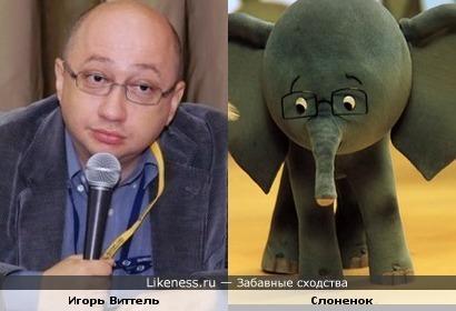 """Игорь Виттель и слоненок из """"38 попугаев"""" похожи"""