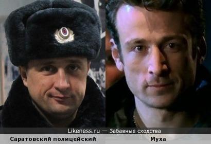 """Саратовский полицейский похож на постарвешего Муху из """"Бригады""""."""