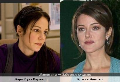 "Актриса из фильма ""РЭД"" Мэри-Луиз Паркер похожа на Джордан из ""Клиники"" (Криста Миллер)"