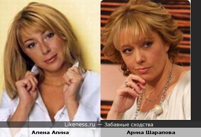 Алена Апина похожа на Арину Шарапову