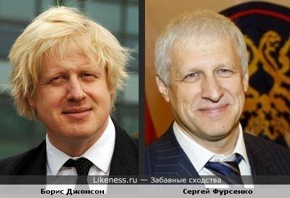 Борис Джонсон похож на Сергея Фурсенко