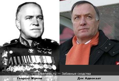 Маршал Жуков похож на Дика Адвокаата