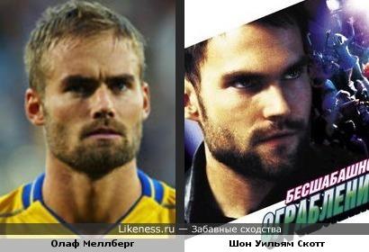 Защитник сборной Швеции Олаф Меллберг похож на Шона Уильяма Скотта