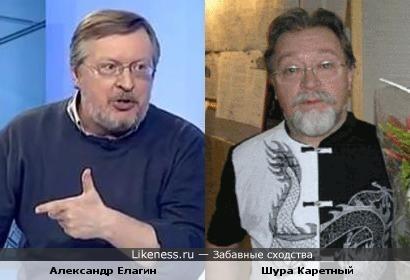 Комментатор НТВ+ Александр Елагин похож на Шуру Каретного