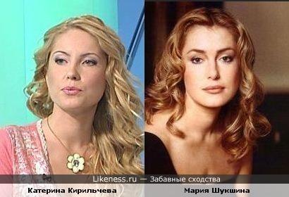 Катерина Кирильчева похожа на Марию Шукшину