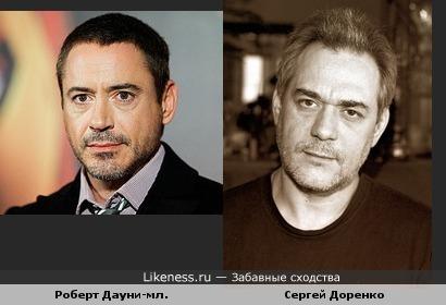 Роберт Дауни-мл. похож на Сергея Доренко