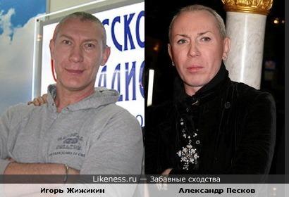 Игорь Жижикин похож на Александра Пескова