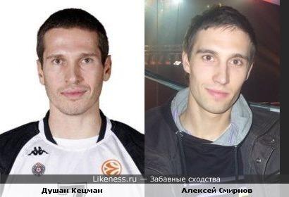 Баскетболист Душан Кецман похож на Смирнягу