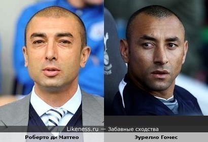 "Тренер ""Челси"" Роберто ди Маттео похож на вратаря ""Тоттенхэма"" Эурелио Гомеса"