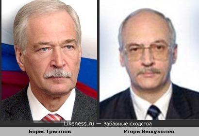Борис Грызлов похож на Игоря Выхухолева (в прошлом ведущего новостей на ОРТ)