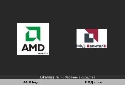 Логотипы АМД и ИФД