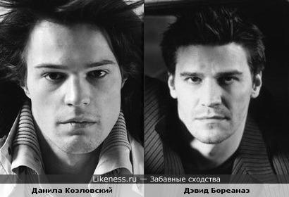 Данила Козловский похож на Дэвида Бореаназа