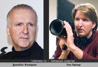 Джеймс Кэмерон и британский режиссёр Том Хупер