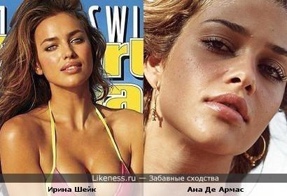 Ирина Шейк похожа на Ану Де Армас