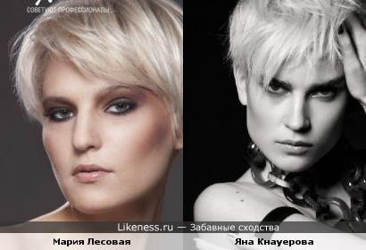 Мария Лесовая похожа на Яну Кнауерову