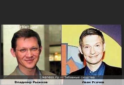 Политик Владимир Рыжков похож на телеведущего Ивана Усачева