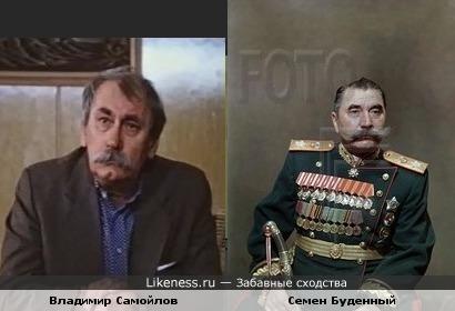 Актер Владимир Самойлов похож на маршала Семена Буденного
