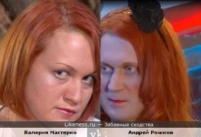 Валерия Мастерко похожа на Андрея Рожкова