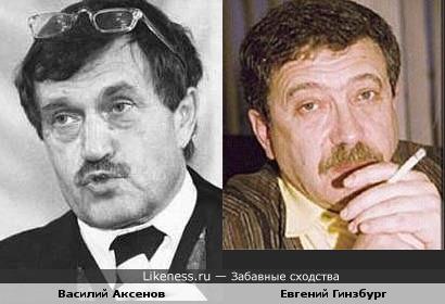 Писатель Аксенов и режиссер Гинзбург